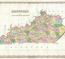 Vintage Map of Kentucky (1827) by alleycatshirts