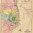 Vintage Map of Halifax Nova Scotia (1878) by alleycatshirts
