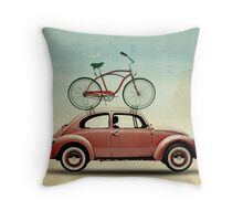 VW Bike Rack Throw Pillow