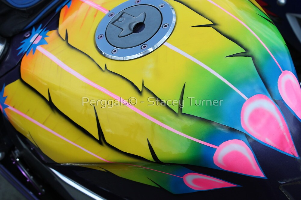 airbrushed petrol tank by Perggals© - Stacey Turner