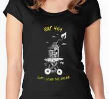RAT 4x4 - JUST LIVING THE DREAM Women's Fitted Scoop T-Shirt
