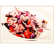 Sauteed vegetables Photographic Print