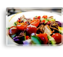 Anchovy Salad Canvas Print
