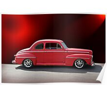 1947 Ford Deluxe Coupe Poster