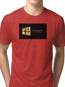 Windoge Windows Black Tri-blend T-Shirt