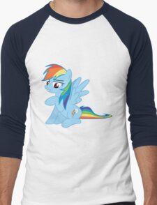 Rainbow Dash is amused Men's Baseball ¾ T-Shirt