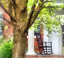 Rocking Chair on Porch by Susan Savad
