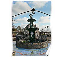 Froggie Fountain Poster