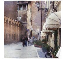 Beautiful tuscan architecture Poster