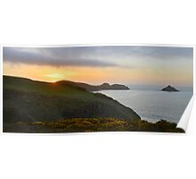 Cornwall: Sunset Over the Rumps Poster