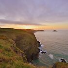 Cornwall: Final Light over the Rumps by Rob Parsons