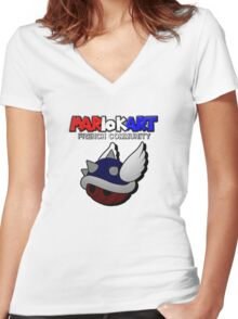 MARIO KART FRENCH COMMUNITY Women's Fitted V-Neck T-Shirt