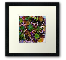 Grape & Red Onion Salad Framed Print