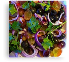 Grape & Red Onion Salad Canvas Print