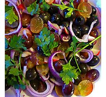 Grape & Red Onion Salad Photographic Print