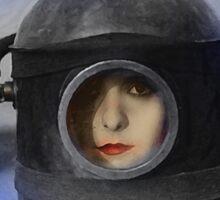 Heroine - Vintage Dada Digital Art Sticker