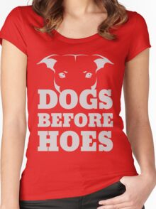 Dogs Before Hoes Women's Fitted Scoop T-Shirt