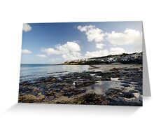The Beach at Portscatho  Greeting Card