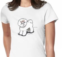 Girly Bichon Frise Womens Fitted T-Shirt