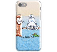 Bichon Frise Dock Dog iPhone Case/Skin