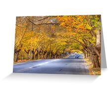 Hahndorf Autumn, Adelaide Hills, SA Greeting Card