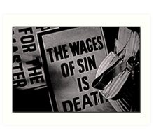 Sin  Art Print