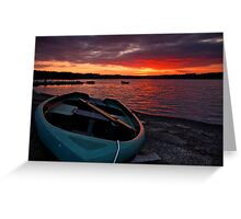 fiery sunset at weirwood Greeting Card