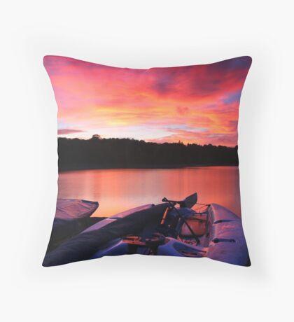 ardingly at sunset Throw Pillow