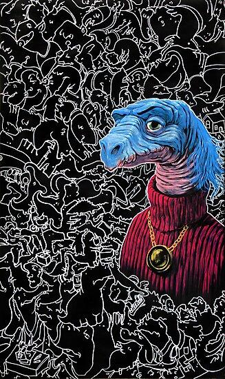 Carl Sagan Dino by nicholasknudson