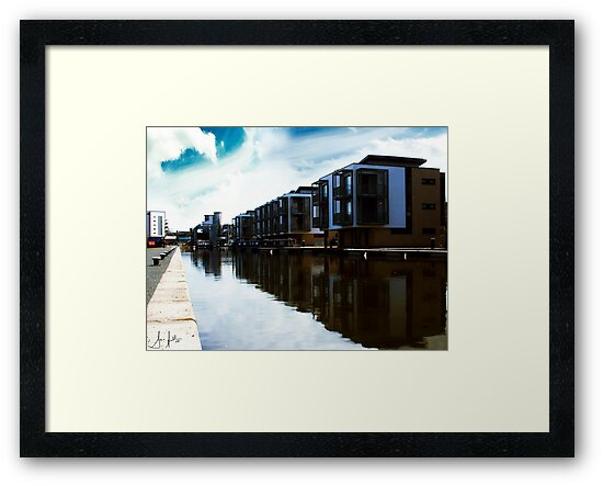 Flats on the Union Canal, Edinburgh by Sue Fallon Photography
