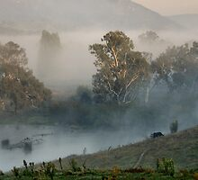 First Light on the Lagoon - Walwa Victoria by Bev Woodman