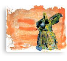 Painted Rabbit Canvas Print