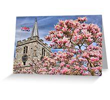 St Lawrence Church - Chobham Greeting Card