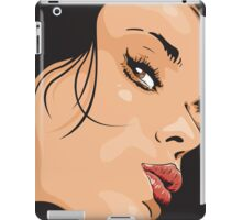 Seductive Woman Closeup Face iPad Case/Skin