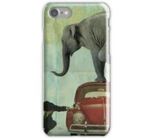 Looking for Tiny _ elephant on a red VW iPhone Case/Skin