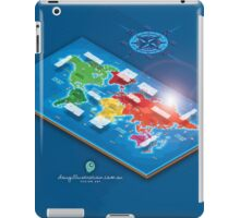 World Map in Isometric iPad Case/Skin