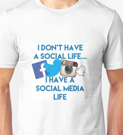 Social media life Unisex T-Shirt