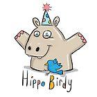 Hippo Birdy! by twisteddoodles
