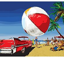 Summer Dreamin' Bright Sunny Beach Scene by Doug Wells