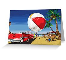 Summer Dreamin' Bright Sunny Beach Scene Greeting Card