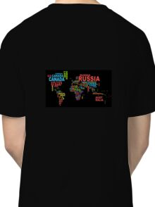 The world in words. Classic T-Shirt