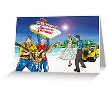 Rock 'n Roll on the Beach Greeting Card