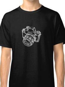 Nikon F Classic Film Camera Illustration WHITE for dark colors Classic T-Shirt
