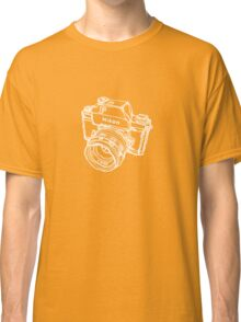 Nikon F Classic Film Camera Illustration WHITE for dark colors Classic T-Shirt