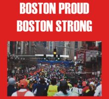 Boston Marathon Boston Strong (White Text) by TWCreation