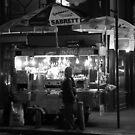 NYC in B&W: Street Vendor by Kezzarama