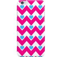 hearts&chevron - pink & blue iPhone Case/Skin