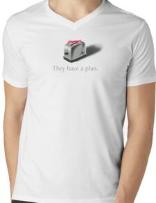 Toasters Mens V-Neck T-Shirt