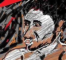 Self-portrait -(150413)- Digital art/Microsoft Paint by paulramnora