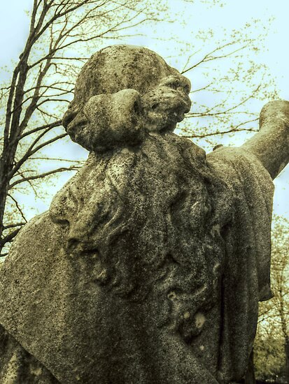 The Beauty Of Her Hair, Ancient Statue in Cemetery by Jane Neill-Hancock